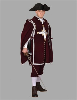 Adult Musketeer Costume u2013 Burgundy  sc 1 st  Fantasy Toyland : 3 musketeers womens costumes  - Germanpascual.Com