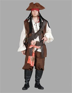 Adult Pirate Captain Costume  sc 1 st  Fantasy Toyland & Jack Sparrow Costume Adult Pirate Outfit Swashbuckler