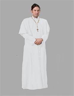 Adult Priest Costume u2013 White  sc 1 st  Fantasy Toyland & Priest Costume Catholic Priest Outfit Religious Costume