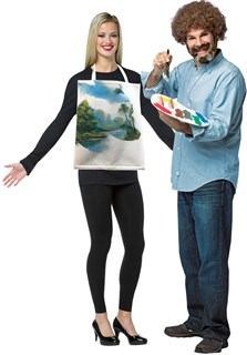 Bob Ross Costume Kit & Wearable Painting