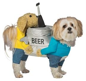 Carrying Beer Keg Dog Costume