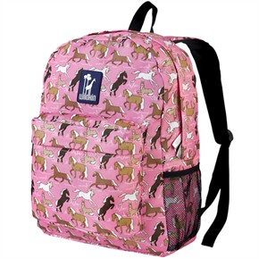 Child Backpack - Horses in Pink