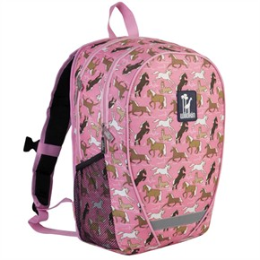 Child Book Bag - Horses in Pink
