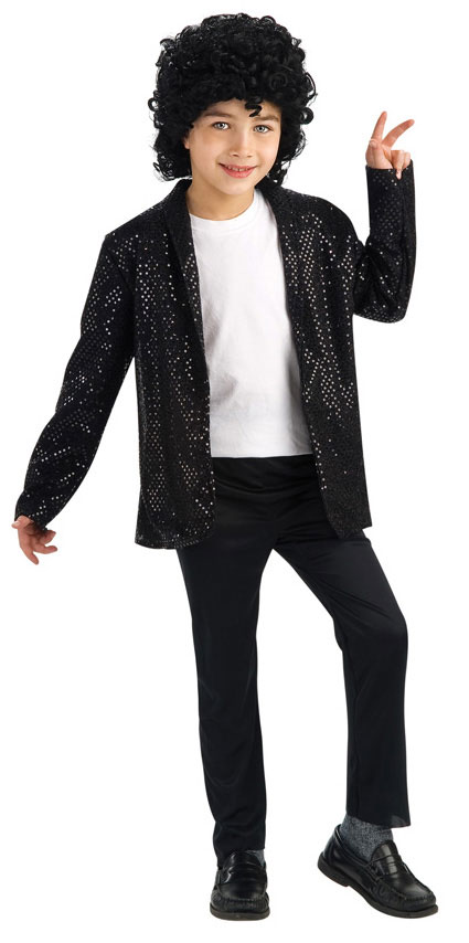 Child Deluxe Black Sequin Billie Jean Jacket
