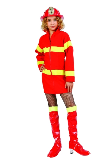 Child Girl Firefighter Costume  sc 1 st  Fantasy Toyland & Firefighter Halloween Costume|Child|Girl