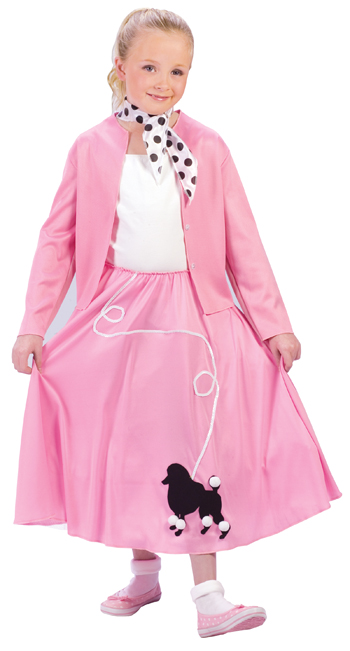 Child Grease Poodle Skirt Costume  sc 1 st  Fantasy Toyland & Child Grease Poodle Skirt Costume Grease Costumes