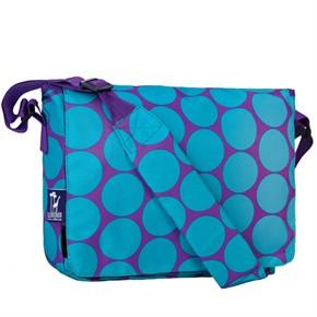 Child Messenger Bag - Big Dot Aqua