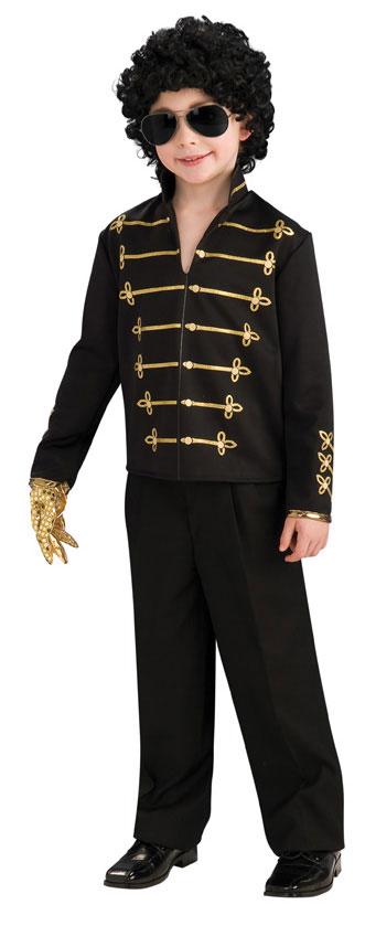 Child Michael Jackson Black Military Jacket