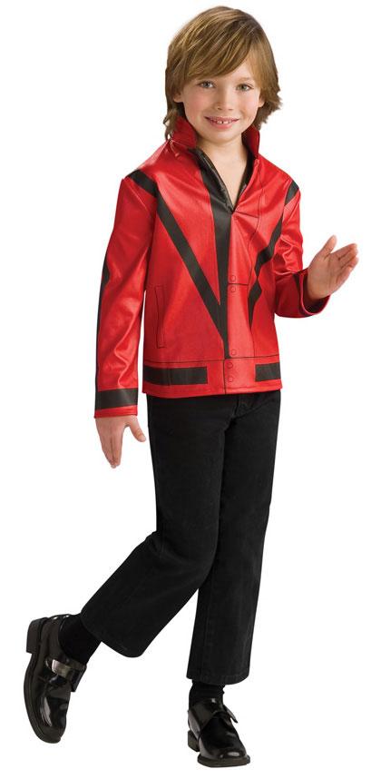 Child Michael Jackson Thriller Red Jacket