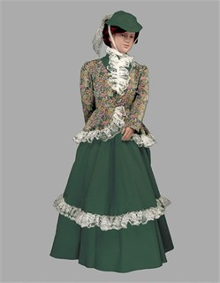 Colonial Dress, Colonial Costume for Girls