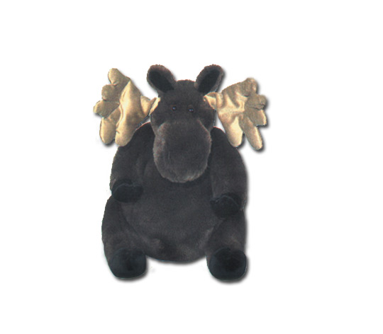 """""""Mildred"""" Sitting Plush Moose"""
