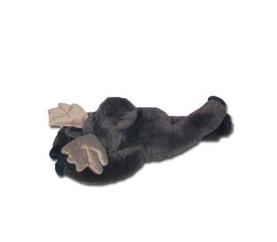 """""""Maggie"""" Laying on back Plush Moose"""