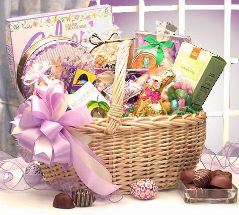 Deluxe easter gift basket easter gift baskets deluxe easter gift basket negle Choice Image