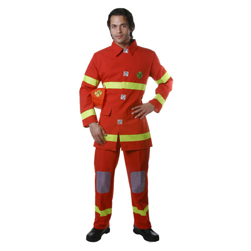 Adult Firefighter Costume - Red