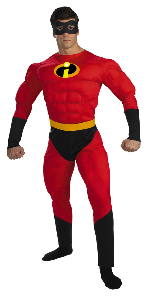 Adult Deluxe Mr. Incredible Muscle Costume