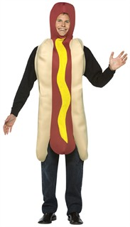 Adult Hotdog Costume - Lightweight
