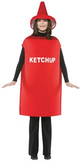 Adult Ketchup Costume - Lightweight