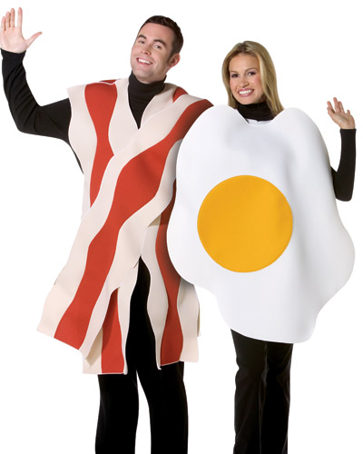 Adult Bacon and Eggs Couples Costume