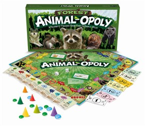 Forest Animalopoly Board Game