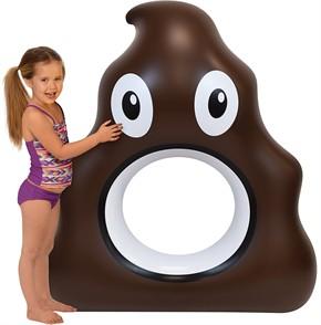 Giant Poop Emoji Pool Float 53 in