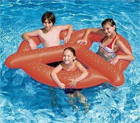 Giant Pretzel Pool Float