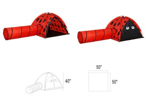 Gigatent Ladybug Tent with Tunnel