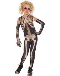 Girls Skeleton Costume - Skelee Girl