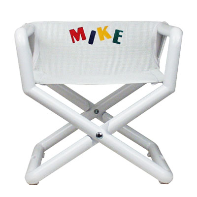 Hoohobbers Personalized Jr. Director's Chair/Booster - White (Mesh)