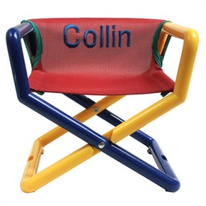 Hoohobbers Personalized Jr. Director's Chair/Booster - Primary (Canvas)
