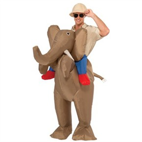 Inflatable Ride An Elephant Piggyback Costume