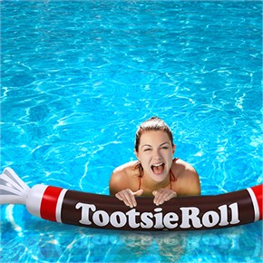 Inflatable Tootsie Roll Pool Noodle