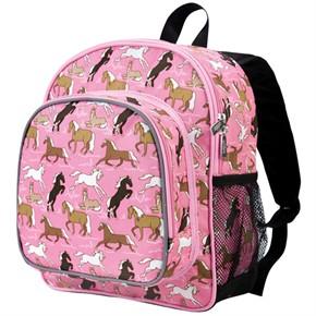 Kid Backpack - Horses in Pink