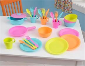 KidKraft Toy Kitchen Bright Cookware Set