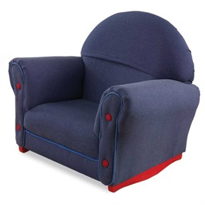KidKraft Upholstered Kids Chair- Denim