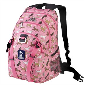 Kids Backpack - Horses in Pink
