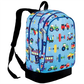 Kids Backpack - Trains, Planes and Trucks