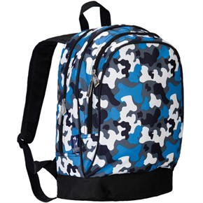 Kids Camo Backpack - Blue