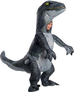 Kids Inflatable Velociraptor Costume with Sound