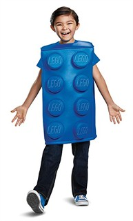 Kids Lego Blue Brick Costume