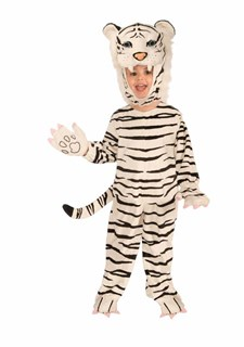 Kids Plush White Tiger Costume