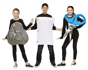 Kids Rock, Paper, Scissor Costumes