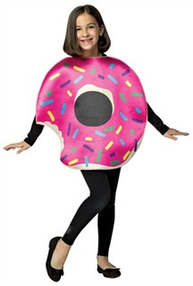 Kids Strawberry Donut Costume 7-10