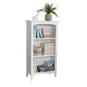 KidKraft Avalon 3 Shelf Kid Bookcase - White