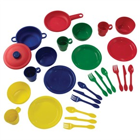 KidKraft 27 Piece Primary Color Kitchen Playset