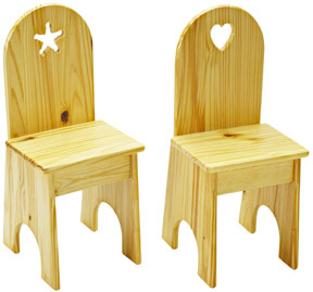 Little Colorado Wooden Kid Chair - Solid Back