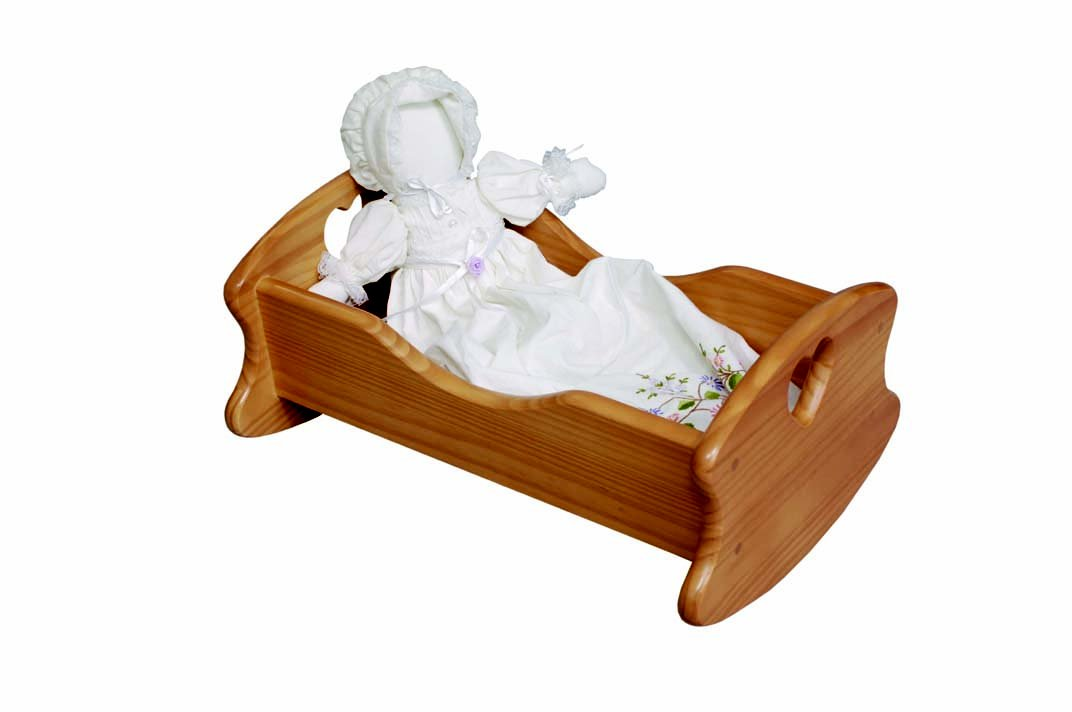 Little Colorado Wooden Doll Cradle