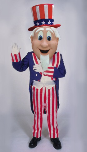 Uncle Sam Mascot Halloween Costume|Cartoon