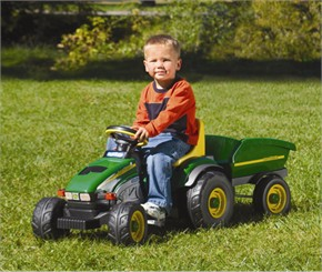 Peg Perego John Deere Pedal Operated Ride On Farm Tractor with Trailer
