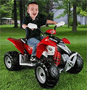 Peg Perego Battery Operated Polaris Outlaw Ride On - Red