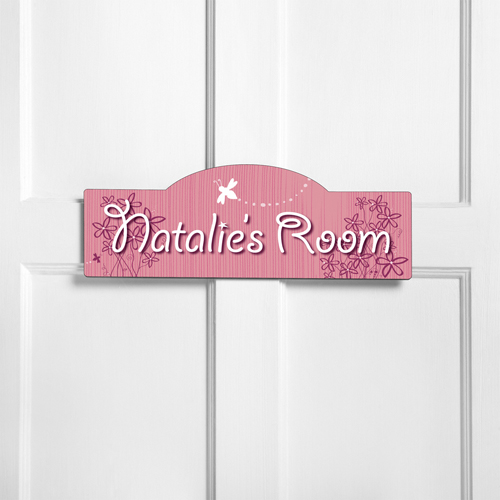 Personalized Kids Room Sign - Daisy Delight